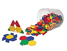 Learning Resources Plastic Pattern Blocks, Homeschool, Shape Recognition, Early Math Skills, Set of Ages in Stacking Blocks. Kindergarten Math Games, Math Activities, Steam Activities, Preschool Math, Fun Math, Learning Resources, Fun Learning, Classroom Resources, Wooden Pattern