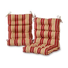 Greendale Home Fashions Roma Stripe High Back Patio Chair Cushion at Lowe's. Enhance the look and feel of your patio furniture with this Greendale Home Fashions Outdoor High Back Chair Cushion Set of These cushions measure x Outdoor Lounge Chair Cushions, Patio Chairs, Outdoor Chairs, Indoor Outdoor, Outdoor Furniture, Adirondack Chairs, Outdoor Spaces, Back Support Pillow, Support Pillows