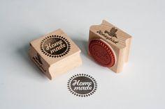 Homemade stempel met diamanten rand van MissHoneyBird op Etsy, €11.95