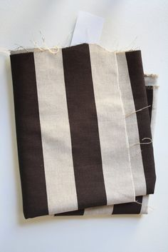 Brown striped pillows