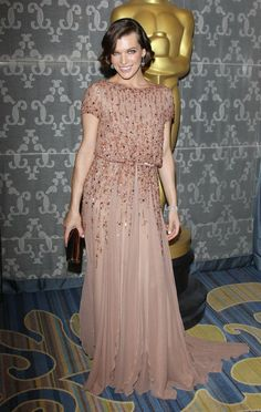 Milla Jovovich wore ELIE SAAB Haute Couture to the Academy of Motion Picture Arts And Sciences' Scientific & Technical Awards.