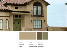 Best Stucco Exterior Home Color Schemes Terra Cotta Roof 400 x 300