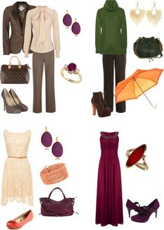 """warm autumn looks"" by sabira-amira ❤ liked on Polyvore"