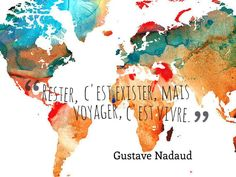 Inspirational French travel quotes translated to English