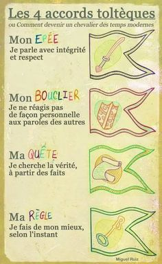 LES 4 ACCORDS TOLTÈQUES Positive Life, Positive Attitude, Freedom Meaning, Miracle Morning, Positive Affirmations, Motivation Inspiration, Kids And Parenting, Self Help, Activities For Kids