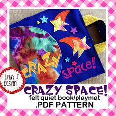 Crazy Space QUIET BOOK Playmat .PDF Pattern por LindyJDesign