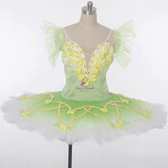 """B17030 Green Professional ballet Tutu.Availalble in customer size (when you order, please leave me message of height,bust, waist, hip & girth)! There is 10 available and the price is $ 356.Comment with your email address to purchase, and a secure PayPal checkout link will be emailed to you!        This professional stage costume is suitable for the role of """"Medora"""" in the ballet """"Le Corsaire"""", Spring Fairy in """"Cinderella"""", Dryads or Queen of the Dryads in Don Quixote. The bodice, made…"""