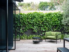 Vaucluse House sees Luis Gomez-Siu bring a refined and considered approach to the extension of an existing semi-detached house. Outdoor Photos, Outdoor Spaces, Indoor Outdoor, Outdoor Living, Pivot Doors, Wood Patio, Australian Homes, Interior Design Studio, Studio Design