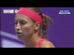 Yulia Putintseva vs Dominika Cibulkova Petersburg 2017 Semi-final 1 SET