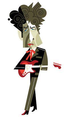 Bob Dylan by Pablo Lobato.