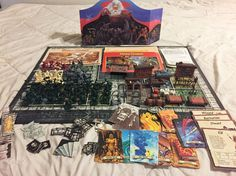 By Milton Bradley. Hero Quest Game System. 2 Quest Books. 4 Red Hero pieces. Missing lots of pieces. Some pieces are broken. 7 White pieces. 3 Fire Spell. | eBay!
