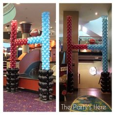 Goal Posts for State of Origin Promotion at Bankstown Sports Club. Go the mighty… Poteaux d'objectif pour la promotion de … 90s Decorations, Balloon Decorations, Birthday Decorations, Football Banquet, Football Decor, Birthday Parties, 5th Birthday, Birthday Ideas, National Rugby League