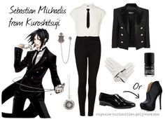 Casual cosplay Sebastian Michaelis (Black butler) - COSPLAY IS BAEEE! Tap the pin now to grab yourself some BAE Cosplay leggings and shirts! From super hero fitness leggings, super hero fitness shirts, and so much more that wil make you say YASSS! Casual Cosplay, Cosplay Outfits, Anime Outfits, Mode Outfits, Cosplay Costumes, Casual Outfits, Fashion Outfits, Cosplay Diy, Cosplay Makeup