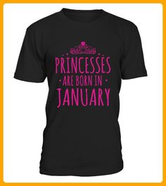 Princesses Are Born In January TShirts - Shirts für freundin mit herz (*Partner-Link)
