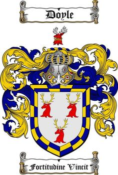 DOYLE FAMILY CREST - COAT OF ARMS gifts at www.4crests.com