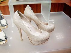 White sparkle heels....I'm in love. Can someone I know plz get married in these??