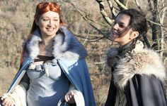 Sansa and Arya Stark cosplay 2 by CursedMind (I could do this with my sister!)