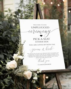 Wedding Love Story Sign, Our Love Story First Met, Wedding Signs Template, Love Story Weddings, Inst Wedding Ceremony Ideas, Wedding Signage, Church Ceremony Decor, Best Wedding Ideas, Church Wedding Decorations, Reception Signs, Spring Wedding Inspiration, Wedding Seating, Unplugged Wedding Sign