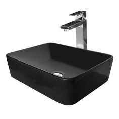 Cibo Design Vivid Rectangular Counter Top Basin (Black/Black)