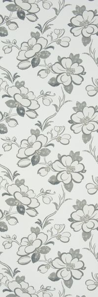 "Designers Guild, Amrapali WP, ""lotus flower"", slate. Largh 52"