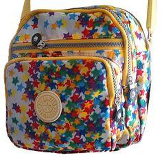 Hot Sell GUOXINYUAN Women s Shoulder Messenger Bags Nylon Casual Handbags  Zipper Handbags Colored stars 822 df9c597eca1bf
