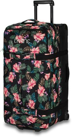 Luggage for Teens: 10 Stylish Suitcases for Traveling Teens Dakine Floral Pattern Rolling Duffel bag, a great option for women, fashion lovers or teens looking for a stylish bag to travel with. Suitcases For Teens, Cute Suitcases, Suitcase Packing, Pack Suitcase, Best Luggage, Travel Luggage, Bags For Teens, Trolley Bags, Travel Bags For Women