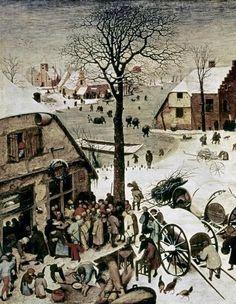 Census At Bethlehem - Detail by Bruegel The Elder, Pieter - Wall Art Giclee Print or Canvas