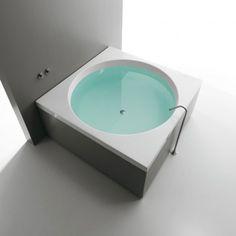 Vasca quadrata con idromassaggio in acrilico modello Sharm