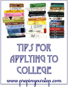 tips for applying to collage. from tips on cooking to how to save the most money during collage