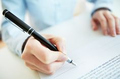Signing a contract.  #Writing #Paper #Corporate  #Document #Signature #Unigeeks