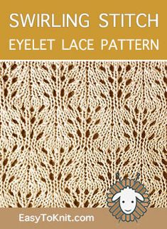 Eyelet lace pattern, Free and Easy! Eyelet lace pattern, Free and Easy!Knitting Pattern Strickjacke wickeln Baby Hooded Wrap Cardigan - Knitting Pattern How to knit a bunny ra. Knitting Machine Patterns, Knitting Stiches, Knitting Charts, Free Knitting, Knit Stitches, Lace Patterns, Stitch Patterns, Crochet Patterns, Ravelry