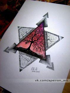 geometric tattoo pattern - - My best tattoo list Dreieckiges Tattoos, Kunst Tattoos, Bild Tattoos, Cute Tattoos, Body Art Tattoos, Tattoo Drawings, Art Drawings, Mandala Triangle, Geometric Tattoo Pattern