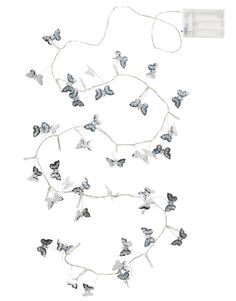 SILVER BUTTERFLY light chain Butterfly Lighting, Light Chain, Indie, Boho, Silver, Inspiration, Future, Decor, Biblical Inspiration