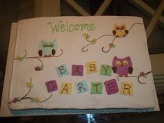 owl baby shower cake - Google Search