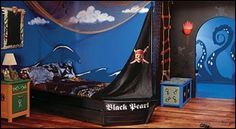 Decorating theme bedrooms - Pirates of the Caribbean bedrooms - pirate themed furniture - nautical theme decorating