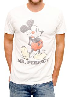 Junk Food Clothing - Men's Collections - Disney - All - Mickey Mr. Perfect Solid Basic Tee