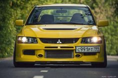 low evo with russian licence plate