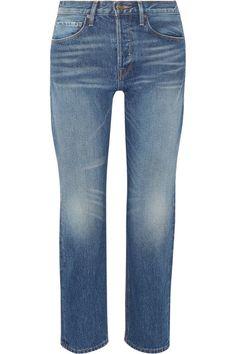 Blue denim Button and concealed zip fastening at front 100% cotton Machine wash Designer wash: Sunset Strip