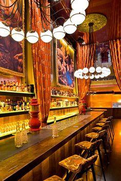 Gitane restaurant and bar, San Francisco. Love this restaurant interior! Bohemian Restaurant, Restaurant Design, Restaurant Bar, Restaurant Interiors, Bar Interior, Bohemian Interior, Bohemian Decor, Interior Ideas, Interior Design