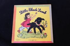 I am so charmed by Little Black Lamb - it is such a sweet and delightful childrens book!  The book is published in 1946 by Whitman Publishing Co and is a Fuzzy Wuzzy Book. The pages are a thick cardstock and it has a charming illustrations featuring a flocked and fuzzy Little Black Lamb. The book features 10 pages with vintage illustrations. Not every illustration is fuzzy, but all are just so sweet. Follow the adventures of the Little Black Lamb as he roams the farm looking for someone to…