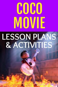 Dia de los Muertos Coco movie and Coco movie activities for kids. Great way to learn with movies! #lessons #dayofdead #coco #homeschool #school