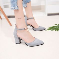 Drop Shipping Summer Women Shoes Pointed Toe Pumps Dress Shoes High Heels Boat Shoes Wedding Shoes tenis feminino Side with Low Heel Shoes, High Heel Boots, Women's Shoes, Low Heels, Boat Shoes, Water Shoes, Wedding Shoes Heels, Prom Shoes, Platform High Heels
