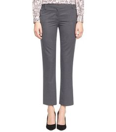 Tory Burch KANE PANT Great length and rise. Love the wool flannel.