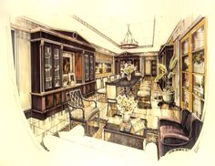 colonial_interior_library by B1ack1ight on deviantART