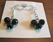 Faceted Black Onyx Earrings...$18