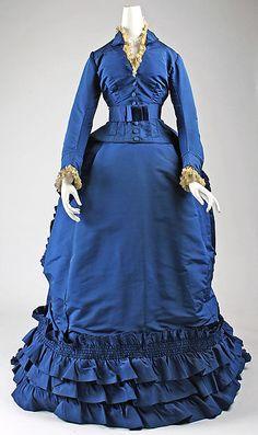 Dress Date: ca. 1870 Culture: French Medium: silk Accession Number: 1979.346.70a–c