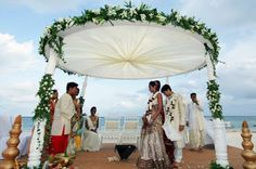 People may sometimes opt for organizing a Theme Wedding and one of the best options is Beach Wedding. Fortunately, in our country, it is not very difficult to shortlist a good beach location as our country has a vast coastline of over 7000 Kms. One way of making your marriage a unique one is by arranging it on a beach. Exotic Beach Weddings have become quite popular now and many young Indian couples, do like experimenting too.
