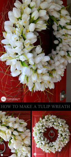 How to Make a Tulip Wreath | spring floral ideas #michaelsmakers