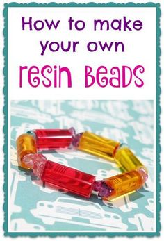 How to make resin beads...