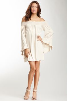 James & Joy Bree Off-the-Shoulder Dress on HauteLook. absolutely stunning dress. looks comfy too:)